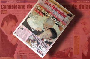 Prima pagină din ziarul care a pornit Dosarul Transferurilor. Sursa: gsp.ro