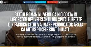 Articolul care a declanşat scandalul dezinfectanţilor diluaţi. Sursa: tolo.ro